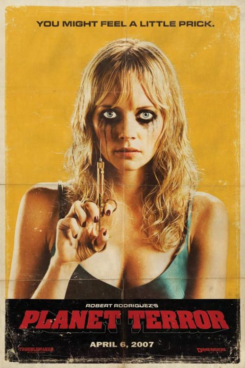 godessofhell:  PLANET TERROR Directed by Robert Rodriguez Such a kickass movie!!! I love the strong sexy independent women in this movie and the action sequences are perfect If you like Horror, gore, Zombies, sexiness, Action, Humor, strippers, needles, guns, explosions, motorcycles, helicopters, two hot twins, BBQ, or humor you will  Like this movieXP