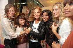 vogue:  FASHION'S NIGHT OUT: Designer Diane von Furstenberg and Partygoers