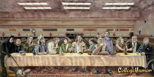 Big Lebowski Last Supper The Dude shouldn't have given the last supper on Shomer Shabbos. Donny doesn't approve.