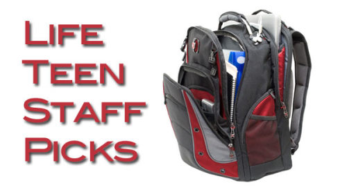 "Life Teen Staff Picks: Swiss Army Backpack! This week the Life Teen Staff Pick is from Kevin Hickey! Kevin is the Parish Outreach Team Director. His staff pick is just in time for back to school shopping! ""This sounds crazy, but one of my favorite things is my Swiss Army backpack. For someone like me who tries to be organized, it has tons of pockets and places to put things. I'm always on the road and need something sturdy and dependable. Sure there are other backpacks out there, but not really as great as my Swiss Army backpack!"""