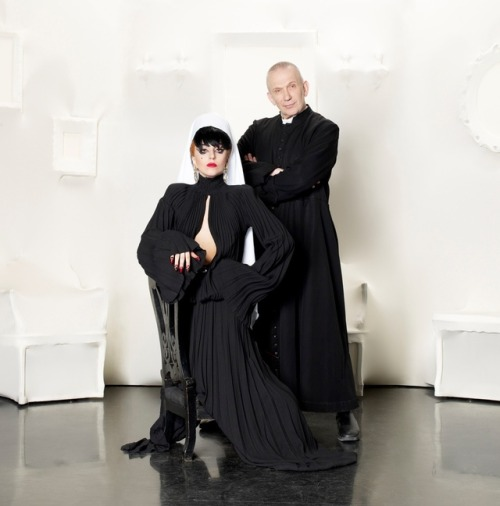 milkstudios:  What do you get when you mix Lady Gaga with Jean Paul Gaultier? We're not telling; click through to find out for yourself. All we can say is that it's delightful. Image copyrighted by Slam/Slam Photography