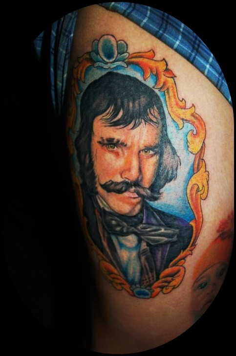fuckyeahtattoos:  Bill the Butcher From Gang of New york. Artist Jhay Colis   omfg. This is probably the best tattoo I've ever seen in my life. I can't even