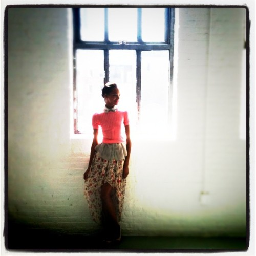 glamour:  Dreamy! Via markleibowitz: Jordan backstage at Jason Wu (Taken with instagram)