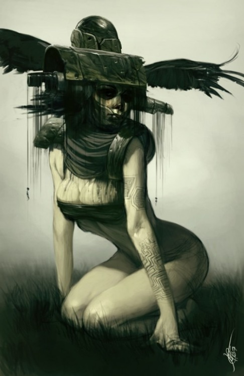 darksilenceinsuburbia:  Jeff Simpson. http://surrealsushi.com/