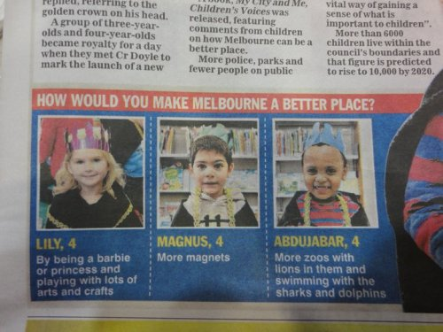 How would you make Melbourne a better place?  画