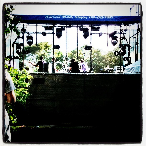 Behind stage in #VIP area. #northcoast #festival #chicago #music #unionpark #igerschicago  (Taken with instagram)