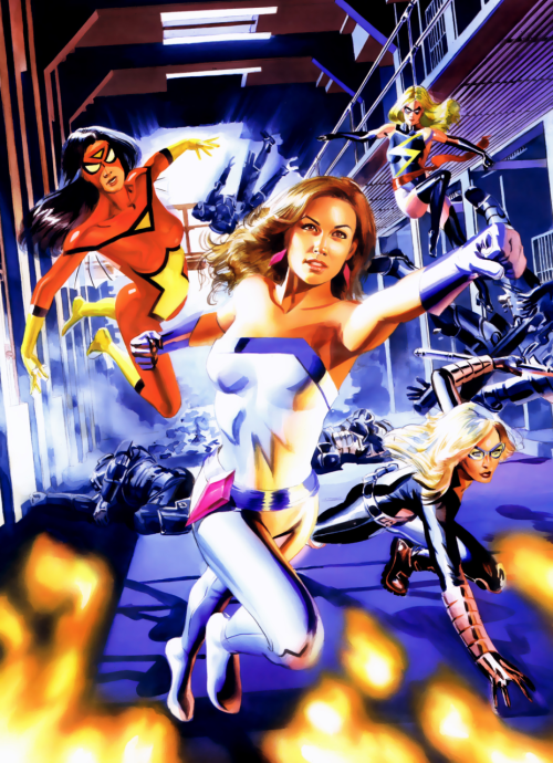 fycomicbookfriendships:  — Mike Mayhew Cover of New Avengers Annual #3