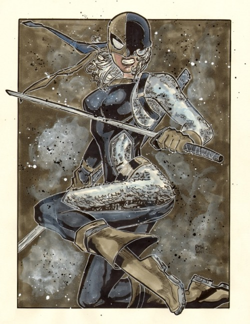 dcladiesandhatingonwhitemen:  Rose Wilson as Ravager by Rich Hennemann