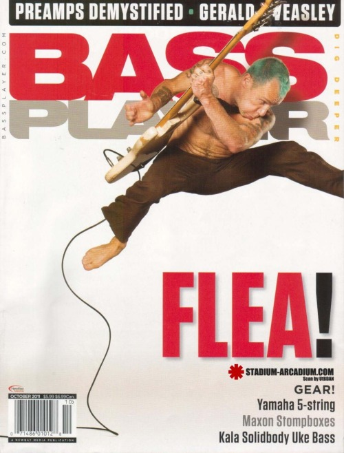 "New interview with Flea in the October 2011 Issue of Bass Player Magazine!""On the eve of releasing I'm With You, Flea sat for a spell to chat with Bass Player Magazine."" Read it here…"