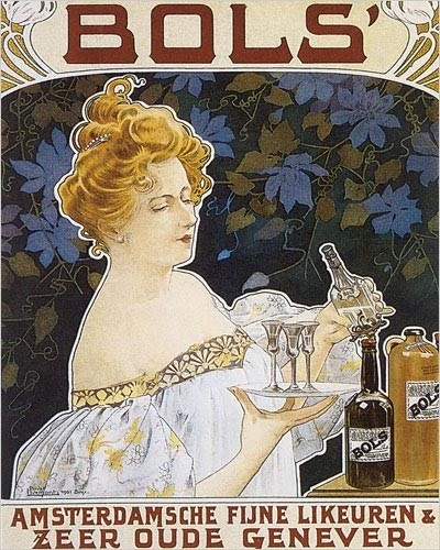cabbagingcove:  1901 Amsterdam advertisement for Bols