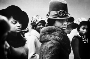 Harlem Fashion Show, Harlem (Leonard Freed, 1963). This photograph is featured in the exhibition Posing Beauty in African American Culture curated by Deborah Willis. Currently on view at the University of Southern California Fisher Museum of Art from September 7 to December 3, 2011.