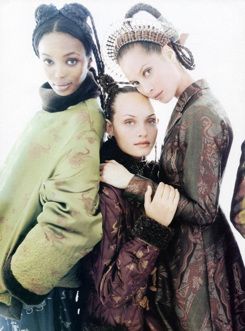 Naomi Campbell, Amber Valetta and Christy Turlingtonphoto by Steven Meisel