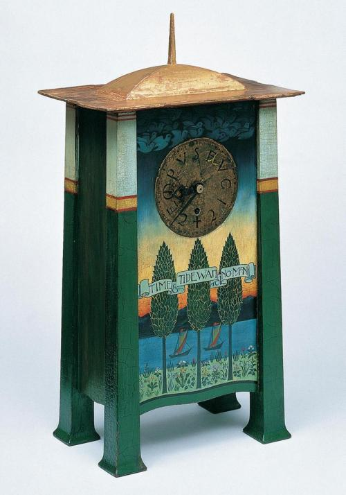 poboh:  Clock, 1895-1896, Charles Francis Annesley Voysey. English, (1857-1941)