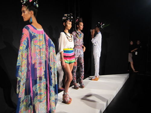 Mara Hoffman's Mexico-inspired Spring 2012 collection. There was bottled water. There was a Mariachi band. There were prints I'll be dreaming about all winter long.