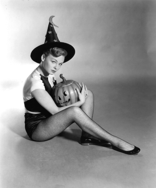 Etchika Choureau, Halloween Witch, 1958 via Sexy Witch
