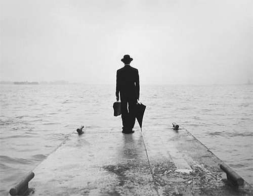 Rodney Smith, Man on Dock Looking South, 1998