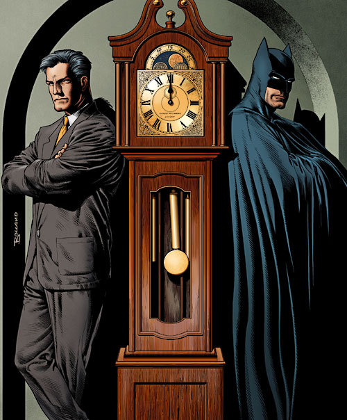 Bruce Wayne and Batman by Brian Bolland