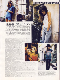 Lou Doillon in Vogue Paris.