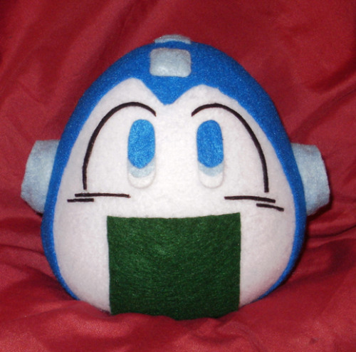 Megaman has defeated GiriMan!  Obtained power: Adorable!  www.merlinemrys.etsy.com