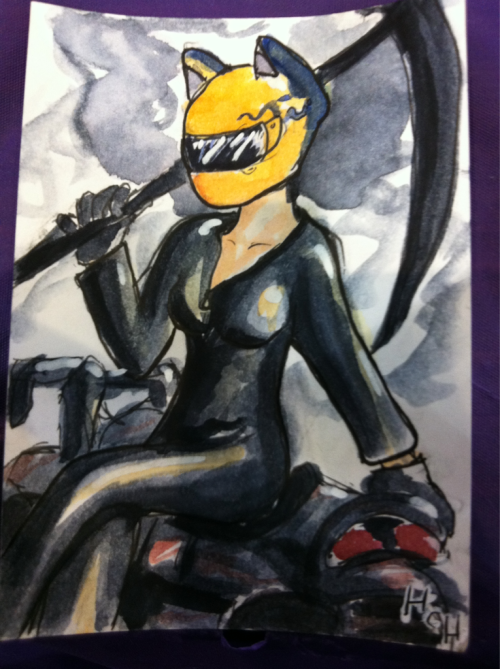 Fanart Friday! I am at a convention so fanart is what I do. I like Celty. I also made a Chibiterasu but I sold it.