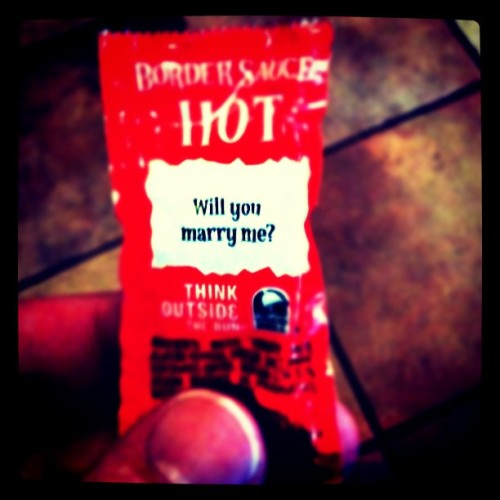 Will you? #romantic #tacobell #hot  (Taken with instagram)