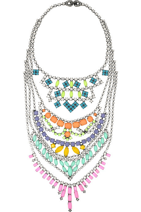 cherriestulips:  glamour:Candy color Swarovski crystals from Tom Binns.$1,860, netaporter.com.