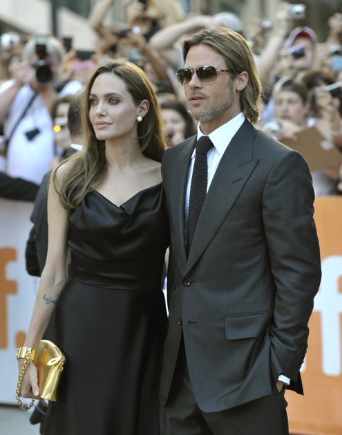 "Brad Pitt and Angelina Jolie at the gala presentation for the film ""Moneyball"" at the 36th Toronto International Film Festival September 9, 2011"