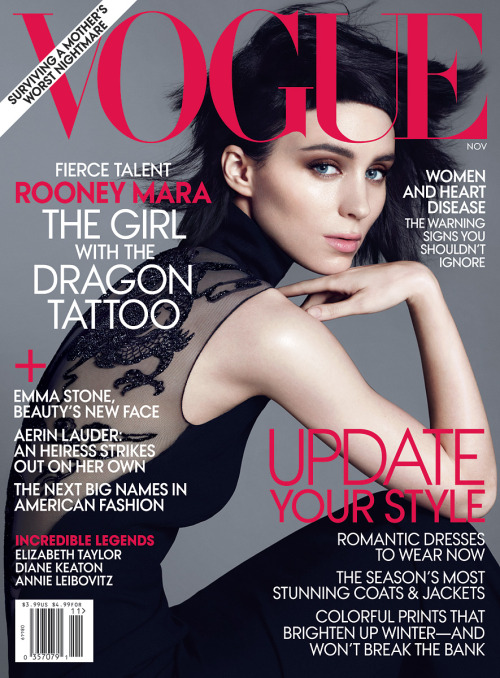 bohemea:  Rooney Mara: Playing With Fire - Vogue by Mert & Marcus, November 2011  Cannot WAIT until Girl with the Dragon Tattoo comes out.