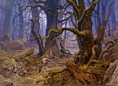 azulegris:  Fangorn Forest por Ted Nasmith