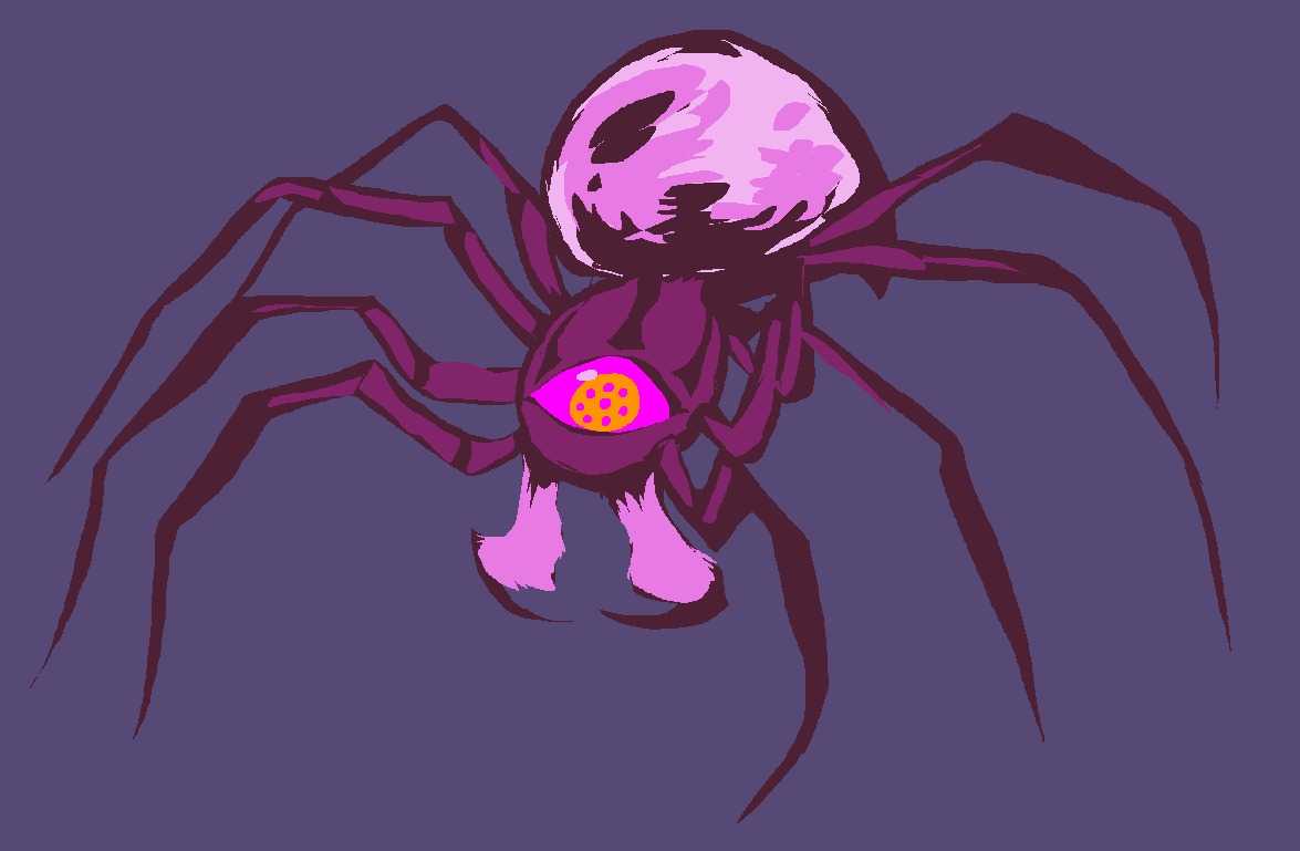 trying to design magic-eating cyclops spiders for a fantasy universe… looks kinda like a Zelda enemy, don't it xD