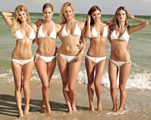 I like this picture because it shows lots of different healthy body types. Some of these models may seem skinnier than the others, but thats just because they have smaller bones and a different body type. People think that to be skinny you have to look a certain way. This is not true! You should aim for healthy and dont worry about how you look so much. As long as you are eating and exercising right, you will look gorgeous!