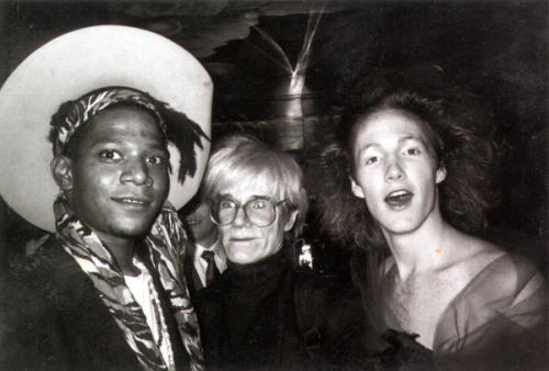skrodluvr:  With Warhol and Basquiat, the opening of 4D