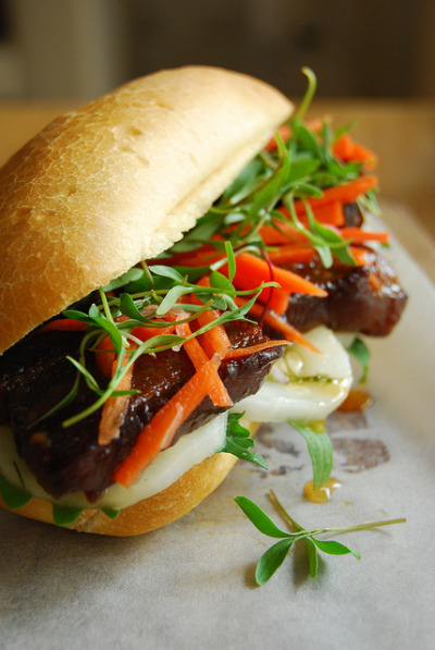 Red Cooked Pork Bell Banh Mi. We eat with our eyes