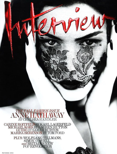 (via Interview September 2011 Cover | Anne Hathaway by Mert & Marcus)