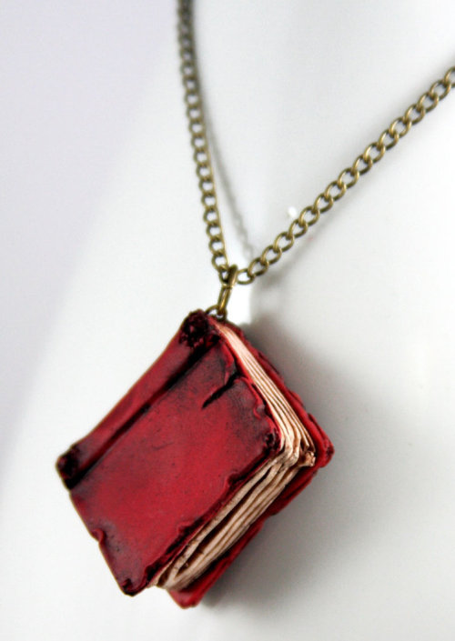 lysaurus:  Red Book Necklace
