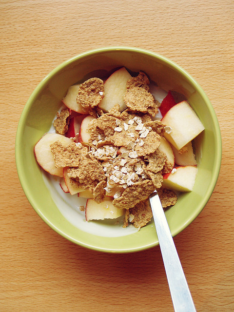 thereluctantrawfoodist:  Look if you still eat cereal then just add an apple  -  easy fruit addition! Make it more fruit than cereal and you are really going for it.