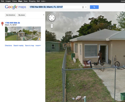 Miami, Florida is the fucking capital of classy And Google Streetview just proved it. Click the pic to see the full sized, more NSFW image. Via
