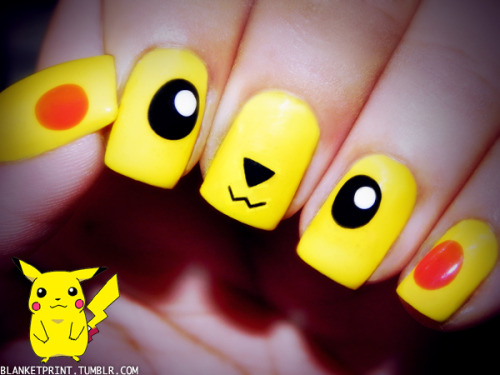 pikachu i chose you nails