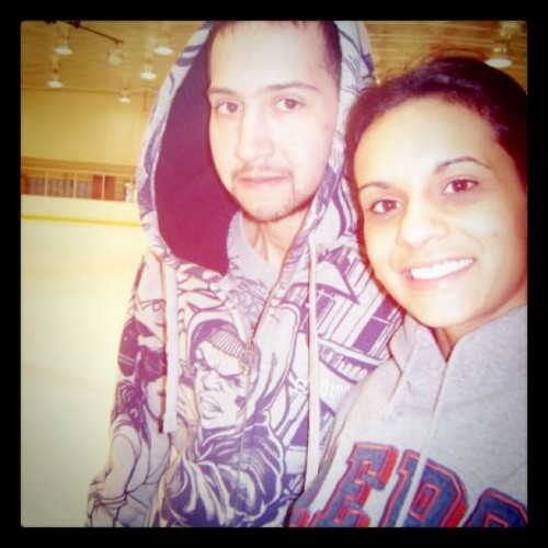bransonchavis:  Ice Skating in Wilmington, NC on my #Birthday a few years ago with @sarinamaynor  (Taken with instagram)
