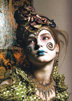 """Great Exaggerations"" / Ruslana Korshunova by Richard Burbridge / Vogue Italia"