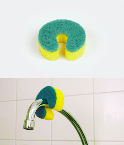 simple idea: sponge which can be secured around the faucet by Robert Audroué