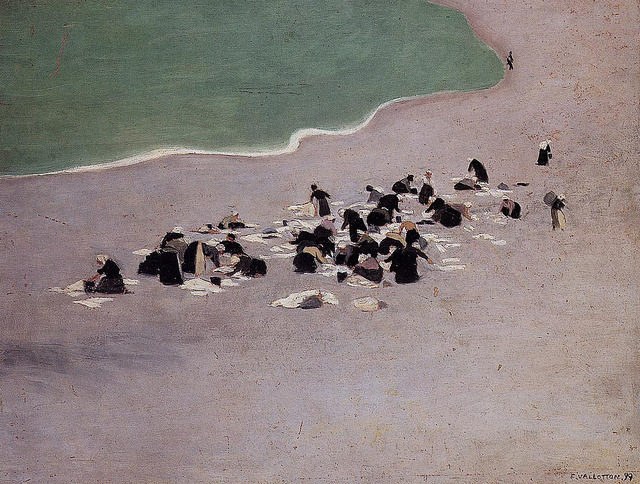 23rd-block:  Felix Vallotton, Women Drying Laundry on the Beach. 1899. Oil painting