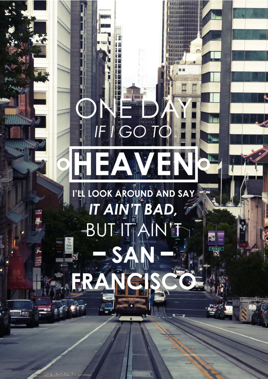 "designersof:  ""It ain't San Francisco"" (Quote from Herb Caen)   http://forgetabouttomorrow.tumblr.com/"