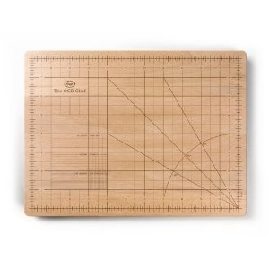 The OCD Cutting Board on Amazon. No longer do you need a protractor to get the angles just right!