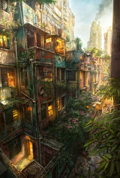 welovepaintings:  Urban Jungle, by Jonas De Ro