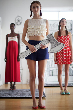 calivintage:  rachel antonoff has the best presentations at fashion week. spring 2012. by calivintage.  my brain just exploded.