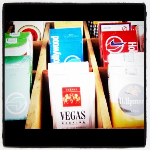 Cuban cigarettes, notice the brand names (Taken with instagram)