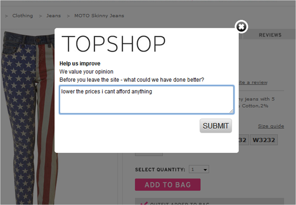 Topshop is reasonably priced IMO (and they have such fly stuff) … it aint 4ever21 prices but its not their quality of material or selection either …. shrugs  zamaradi:  THIS IS SO AMAZING HAHA