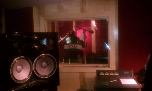 with the homie @acesinna spitting that fire in da booth #TeamAllWorkNoPlay !