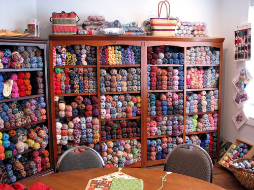 yarnstash:  (via Borealis Yarns - Wall of Sock Yarn | Flickr - Photo Sharing!)